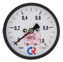 """Манометр TM310T Dy 63 с задним подключением 1/4"""", 0-4 бар"""