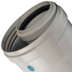 Элемент дымохода конденсац. STOUT труба  1000 мм O60/100 м/п PP-FE