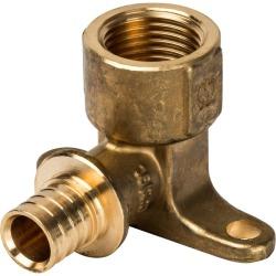 Угольник настенный STOUT с креплением для труб из сшитого полиэтилена