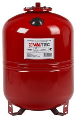 Бак расширительный VALTEC для отопления 100л. (красный с ножками)