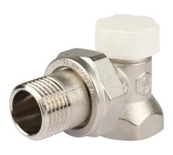 Клапан запорно-балансировочный STOUT угловой