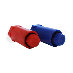 Набор цветных удлиненных заглушек 1/2'' (компл. 2 шт.) (100/1) (синий/красный) VALFEX
