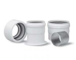 Переходной комплект для забора воздуха и отвода продуктов сгорания по отдельным трубам для котлов Baxi. Артикул KHG 714061511