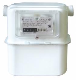 Счетчики газа  Сигнал  СГБ G4-1  с горизонтальным подключением