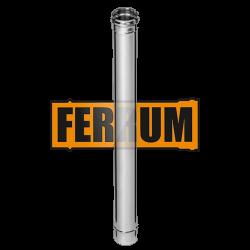 Дымоход Ferrum из нержавеющей стали 1 м, толщина 0,5 мм