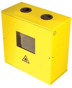 Ящик для счетчика газа G-6 ( 250мм ) с неразборной верх. крышкой