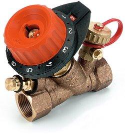 """750406Балансировочный клапан Comap 750 с 1 измерительным ниппелем и с 1 дренажом 3/4"""" DN20 0,13-5,9"""