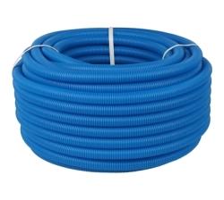 Труба гофрированная ПНД STOUT, цвет синий, наружным диам. 20 мм для труб д. 14-18 мм